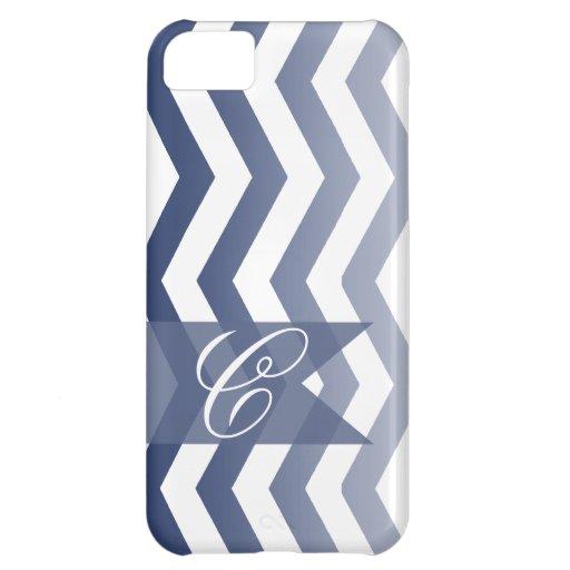 ::TBA:: Ombre Chevron Style! | navy Monogram iPhone 5C Covers