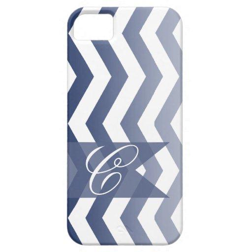 ::TBA:: Ombre Chevron Style! | navy Monogram iPhone 5 Covers
