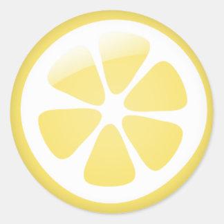 {TBA} Pegatinas del limón Pegatinas Redondas