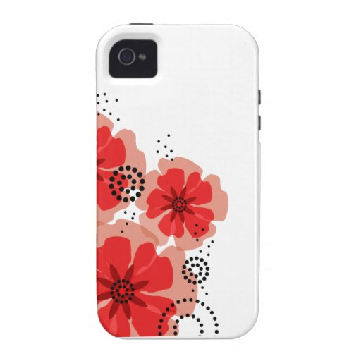 ::TBA:: Pepper Poppies red iPhone 4 Case