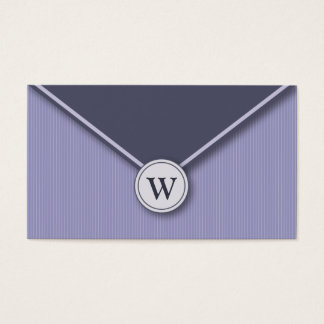 {TBA} Periwinkle Monogram Envelope Business Cards