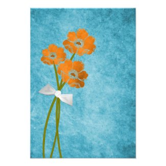 (TBA) Poppy Bouquet RSVP Card Invitations