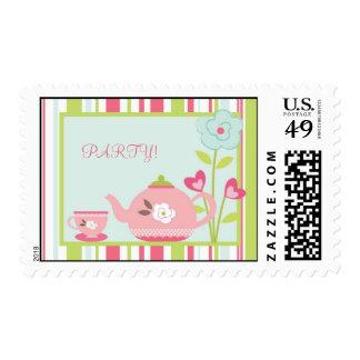 {TBA} rosa de la fiesta del té de 20 sellos