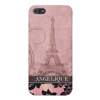 :: TBA:: Rosa de la torre Eiffel el | de Fleur de  iPhone 5 Carcasa