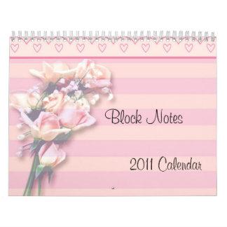 -TBA- Roses Block Notes 2011 Calendar