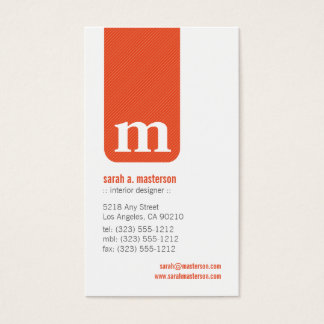 {TBA} Simple Monogram Designer Business Card