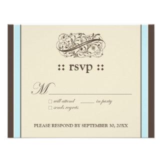 "{TBA} Simply Elegant 4.25x5.5"" Response Card Invite"