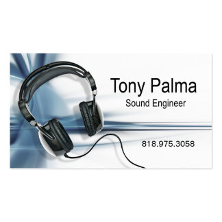 ::TBA:: Smooth Sound Engineer Music Business Card