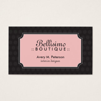 {TBA} Sophisticated Polka Dots (black/pink) Business Card