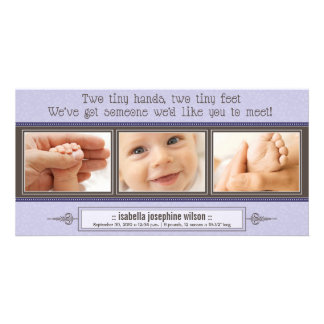 {TBA} Tiny Hands, Tiny Feet Birth Announcement Personalized Photo Card
