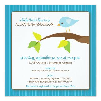 {TBA} Tweet Tweet Baby Shower Invitation (aqua)
