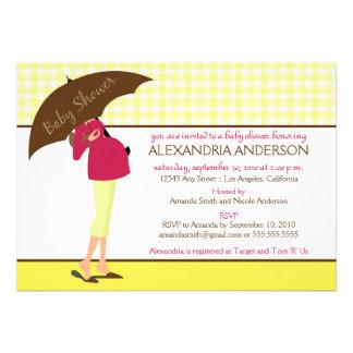 {TBA} Umbrella Mommy Baby Shower Invite (yellow)