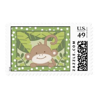 {TBA} verde del mono de la selva del safari de 20 Sello