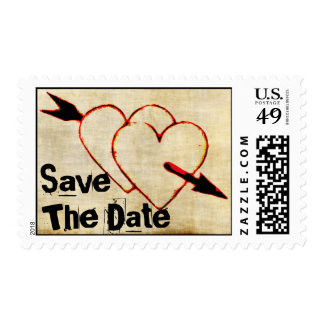 TBA~Vintage Hearts Save The Date Stamps