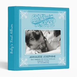 {TBA} Vintage Victorian Baby's First Album: aqua 3 Ring Binder