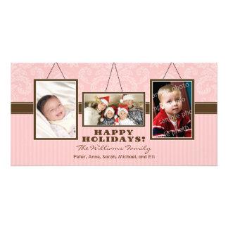 {TBA} Wall Frames Family Holiday Photocard (pink) Photo Card