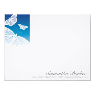 TBA:  White Butterflies Correspondence Cards