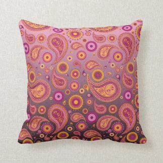<TBA WINNER>Charming Pink & Black Paisley Pillows