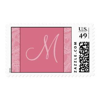 {TBA Winner} Classy Monogram Pink Designer Postage