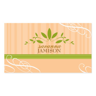 TBA WINNER-FRESH GARLAND PEACH Double-Sided STANDARD BUSINESS CARDS (Pack OF 100)