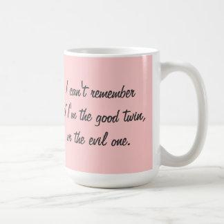 TBA Winner Good or Evil Twin Classic White Coffee Mug