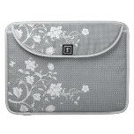 <TBA WINNER>Lunares florales grises y blancos Fundas Para Macbook Pro