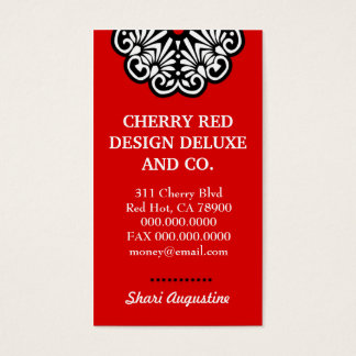 TBA WINNER ROCKIN' CHERRY RED DELUXE BUSINESS BUSINESS CARD