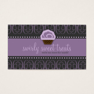 TBA WINNER-SWIRLY SWEET Purple Business Card