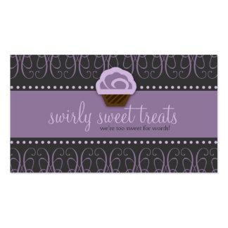 TBA WINNER-SWIRLY SWEET Purple Double-Sided Standard Business Cards (Pack Of 100)