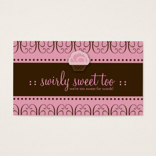TBA WINNER-SWIRLY SWEET TOO BUSINESS CARD