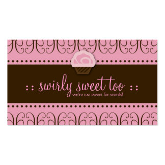 TBA WINNER-SWIRLY SWEET TOO Double-Sided STANDARD BUSINESS CARDS (Pack OF 100)