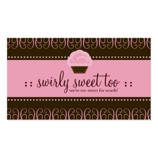 TBA WINNER SWIRLY SWEET TOO Double-Sided STANDARD BUSINESS CARDS (Pack OF 100)