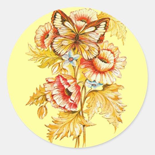 TBA Winner Vintage Floral Classic Round Sticker