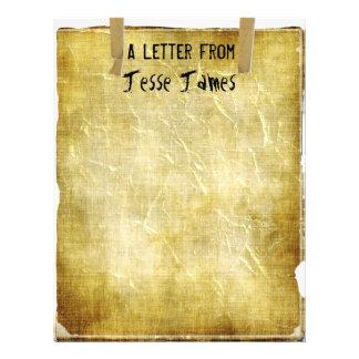 TBA y TOP 10~Letter de. Viejo papel con membrete d Membrete Personalizado