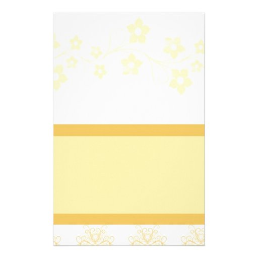 [TBA] Yellow Flowers Personalized Stationery