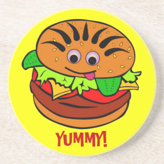 -TBA-Yummy Hamburger Beverage Coaster