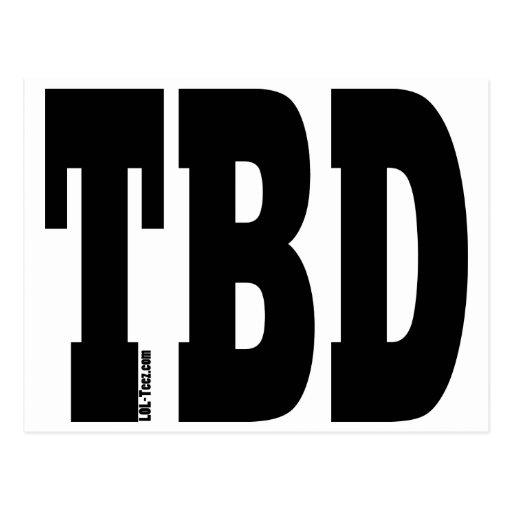 TBD POSTCARD
