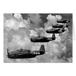 TBF Avenger Torpedo Bombers Greeting Card
