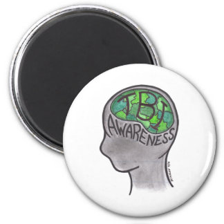 TBI Awareness 2 Inch Round Magnet