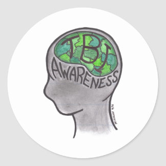 TBI Awareness Classic Round Sticker