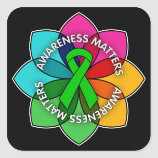 TBI Awareness Matters Petals Square Sticker
