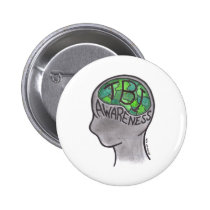 TBI Awareness Pinback Button