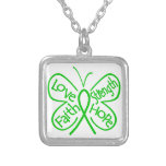 TBI Butterfly Inspiring Words Square Pendant Necklace