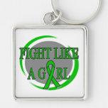 TBI Fight Like A Girl Circular Keychains