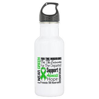 TBI I Wear Green Ribbon TRIBUTE 18oz Water Bottle
