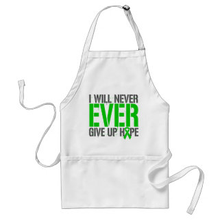 TBI I Will Never Ever Give Up Hope Adult Apron