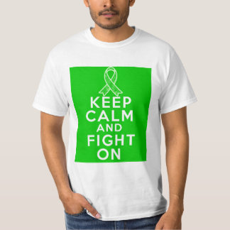 TBI Keep Calm and Fight On T-shirt