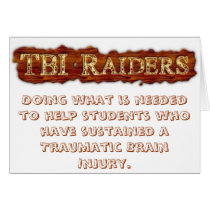 TBI Raiders Greeting Card