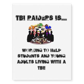 TBI Raiders Temporary Tattoos