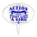 TBI Take Action Fight Like A Girl v2 Cake Picks